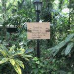 Un letrero del Arboretum